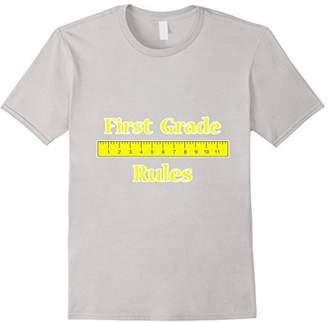 1st Grade Rules T-Shirt Back To School Gift Boy Girl