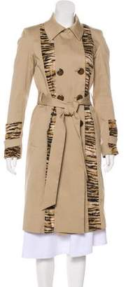 Sonia Rykiel Sonia by Long Sleeve Double-Breasted Trench Coat
