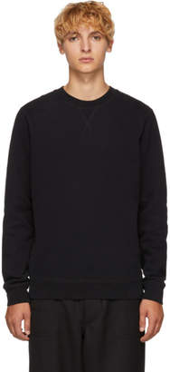 Sunspel Black Loopback Sweatshirt