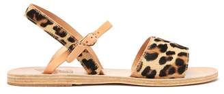 Ancient Greek Sandals Kaliroi Leopard Print Calf Hair Sandals - Womens - Leopard