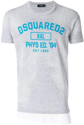 DSQUARED2 distressed layered look T-shirt