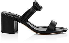 Alexandre Birman Women's Vicky Leather Block-Heel Mules