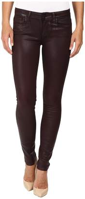 Paige Verdugo Ultra Skinny in Wine Luxe Coating Women's Jeans