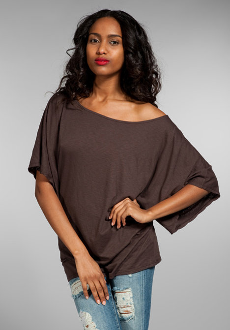 Michael Stars Slub Off The Shoulder Dolman Tee