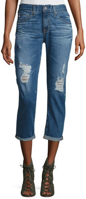 AG The Ex-Boyfriend Distressed Slim Jeans, 12 Years Aroma $225 thestylecure.com