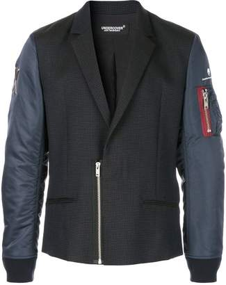 Undercover panelled combo jacket