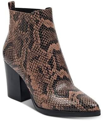 Marc Fisher Women's Alva Snake-Print Booties