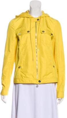 Tory Burch Hooded Zip-Up Jacket