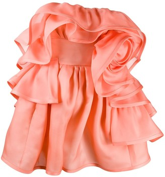 Marc Jacobs rose ruffled dress