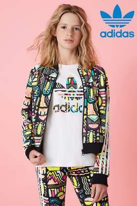 adidas Girls Aztek Superstar Track Top - Red