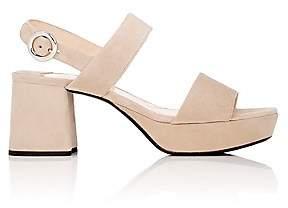Prada Women's Suede Double-Band Platform Sandals-Quarzo