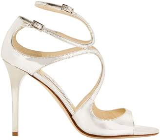 Jimmy Choo Lang Mirrored Sandals
