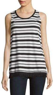 Lord & Taylor Striped Cotton Tank Top