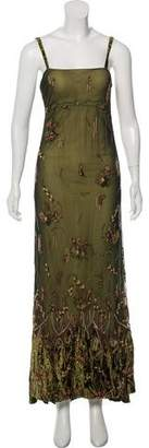 Reem Acra Embellished Evening Dress