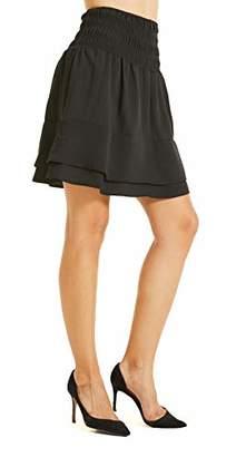 SONJA BETRO Amazon Brand Women's Ruffle Tier A-Line Short Skirt Party//