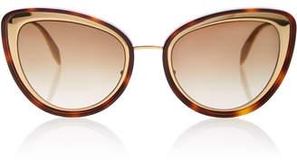 Alexander McQueen Sunglasses Tortoiseshell Acetate Cat-Eye Sunglasses