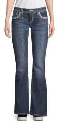 Miss Me Embellished Border Bootcut Jeans