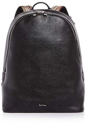Paul Smith Multistripe Strap Leather Backpack