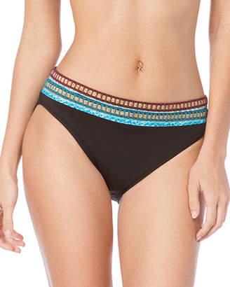 LaBlanca La Blanca Running Stitch Hipster Bikini Swim Bottoms
