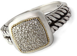 EFFY Balissima Sterling Silver with 18Kt. Yellow Gold Diamond Ring