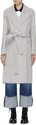 Acne Studios 'Carice' belted wool-cashmere melton coat
