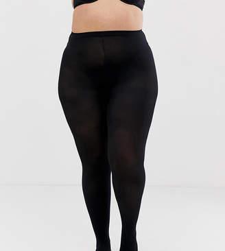 Pretty Polly curve 60 denier opaque tights in black