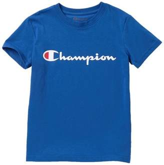 Champion Short Sleeve Script Logo Tee (Big Boys)