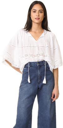 Love Sam Pintuck Blouse $185 thestylecure.com