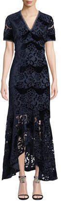 Shoshanna Gile High-Low Illusion Gown