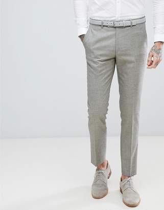Harry Brown Taupe Textured Stretch Skinny Fit Wedding Suit PANTS