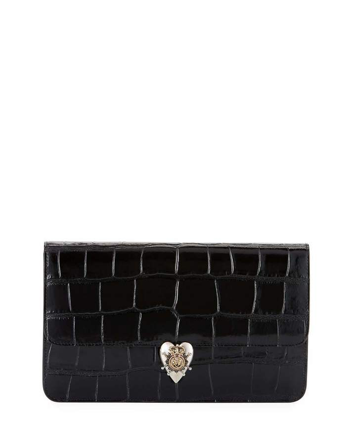 Alexander McQueen Alexander McQueen Heart Envelope Clutch Bag, Black