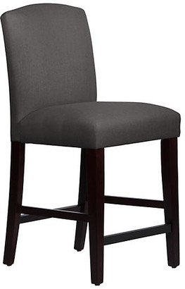 One Kings Lane Marie Arched Counter Stool - Charcoal Linen