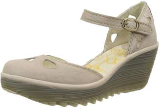 Fly London Womens Yuna Cupido Leather Sandals Summer Shoes Wedge Heel - 10