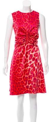 Just Cavalli Leopard Print Knee-Length Dress
