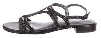 Stuart Weitzman Leather Chain-Link Sandals