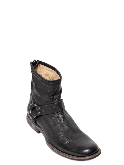 Frye Washed Leather Zipped Boots