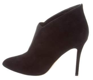 Alexa Wagner Suede Pointed-Toe Booties