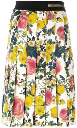 Fausto Puglisi contrast prints midi skirt