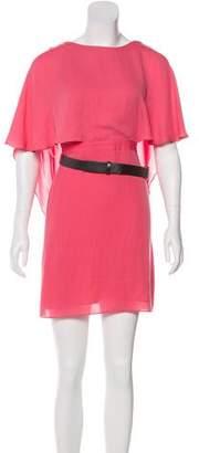 Halston Layered Mini Dress