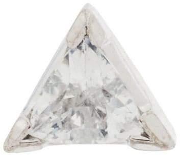 Maria Black 14kt gold Diamond Cut Trillion earring