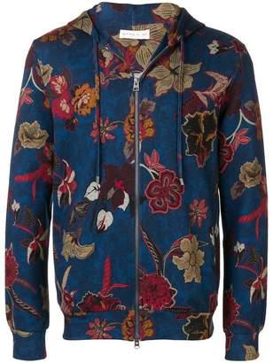 Etro floral print zip-front hoodie