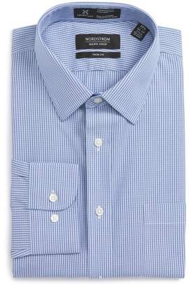 Nordstrom Smartcare Trim Fit Check Dress Shirt