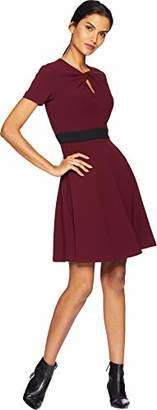Taylor Dresses Women's Solid Waisted Fit and Flare Dress
