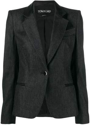 Tom Ford leather lapel jacket