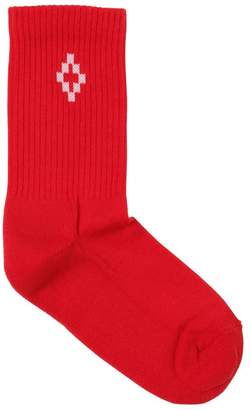 Marcelo Burlon County of Milan Cotton Rib Knit Socks