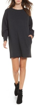 Women's Socialite Gathered Sleeve Sweatshirt Dress $49 thestylecure.com