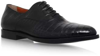 Santoni Crocodile Oxford Shoes