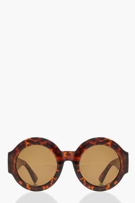 boohoo Oversized Thick Frame Round Sunglasses