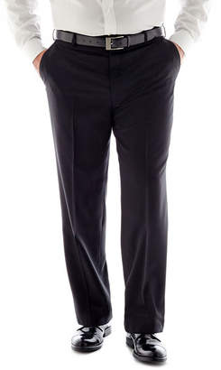 STAFFORD Stafford Travel Flat-Front Suit Pants - Portly