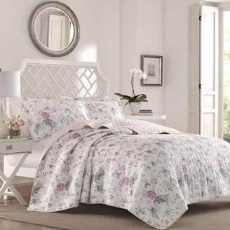 Laura Ashley Home Breezy 100% Cotton Reversible Quilt Set